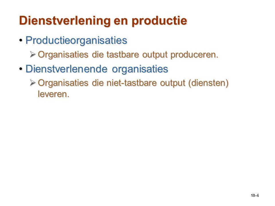 Dienstverlening en productie