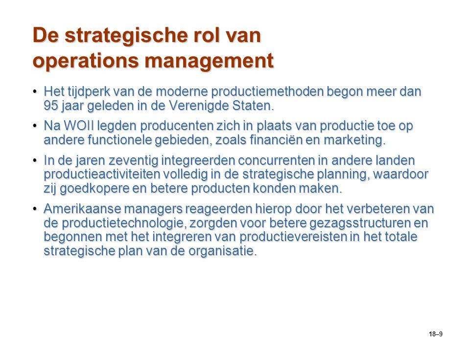 De strategische rol van operations management