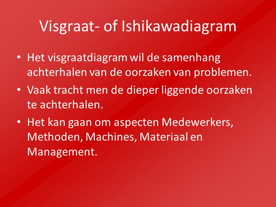 Visgraat- of Ishikawadiagram
