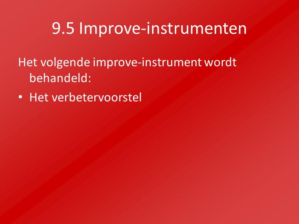 9.5 Improve-instrumenten