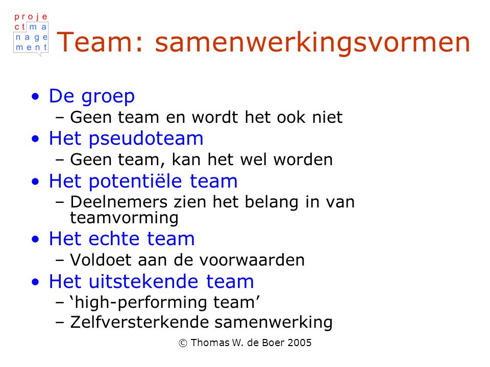 Team: samenwerkingsvormen