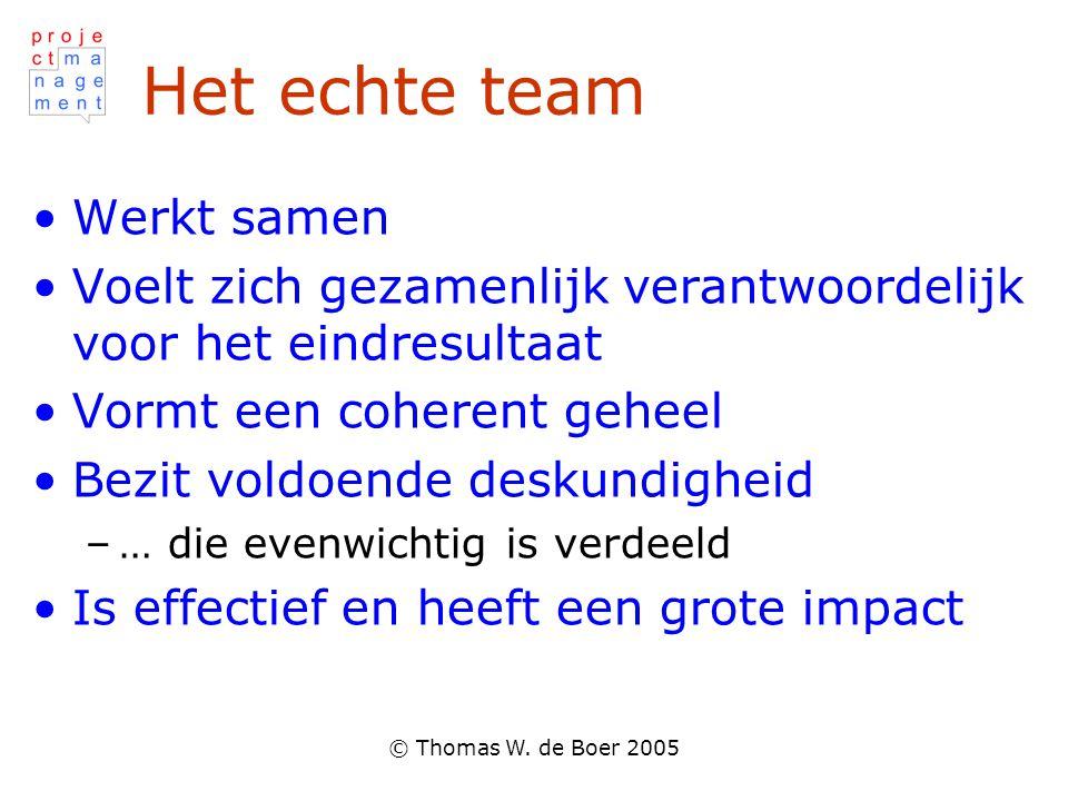 Het echte team Werkt samen