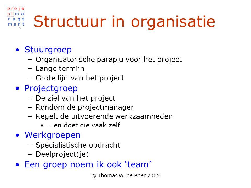 Structuur in organisatie