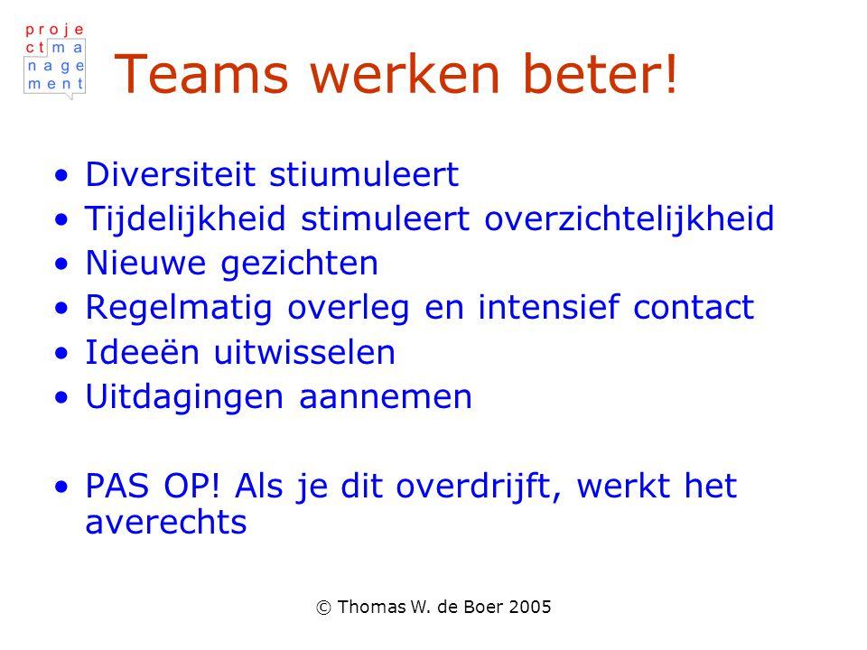 Teams werken beter! Diversiteit stiumuleert