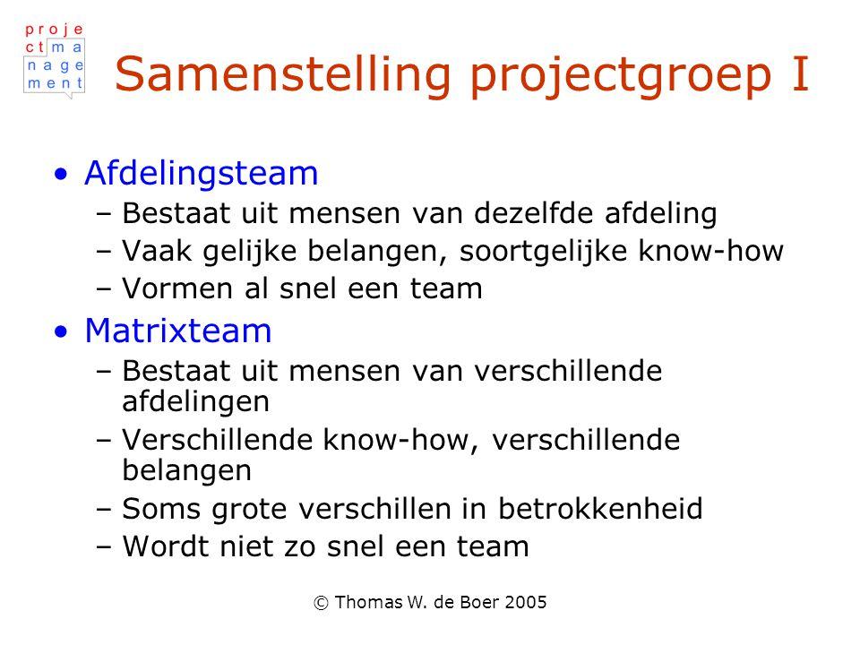 Samenstelling projectgroep I