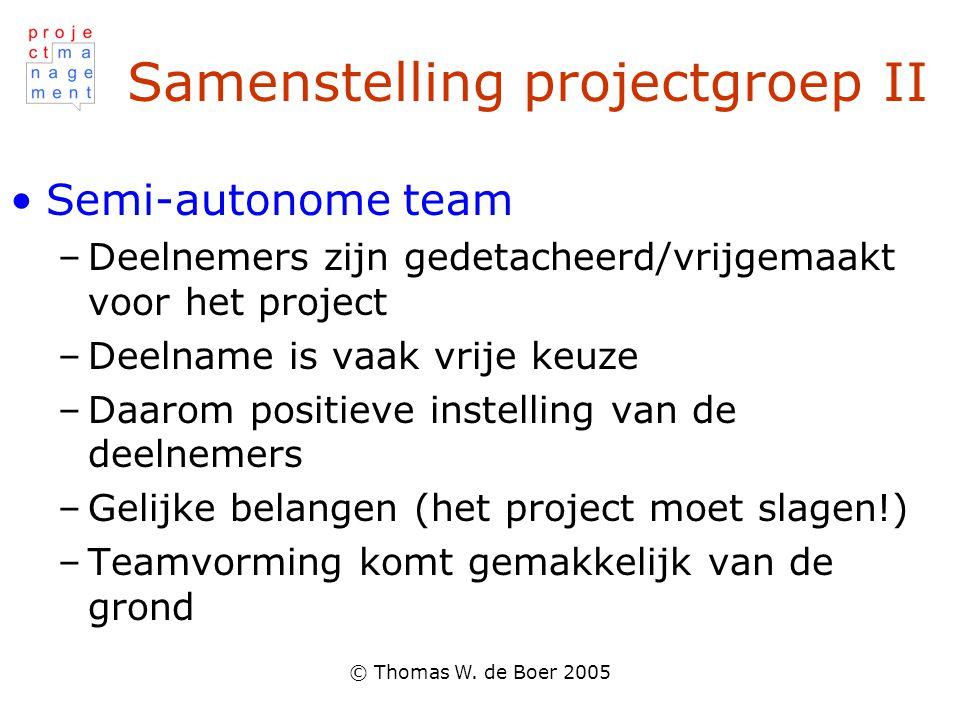 Samenstelling projectgroep II