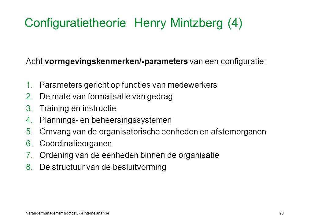 Configuratietheorie Henry Mintzberg (4)