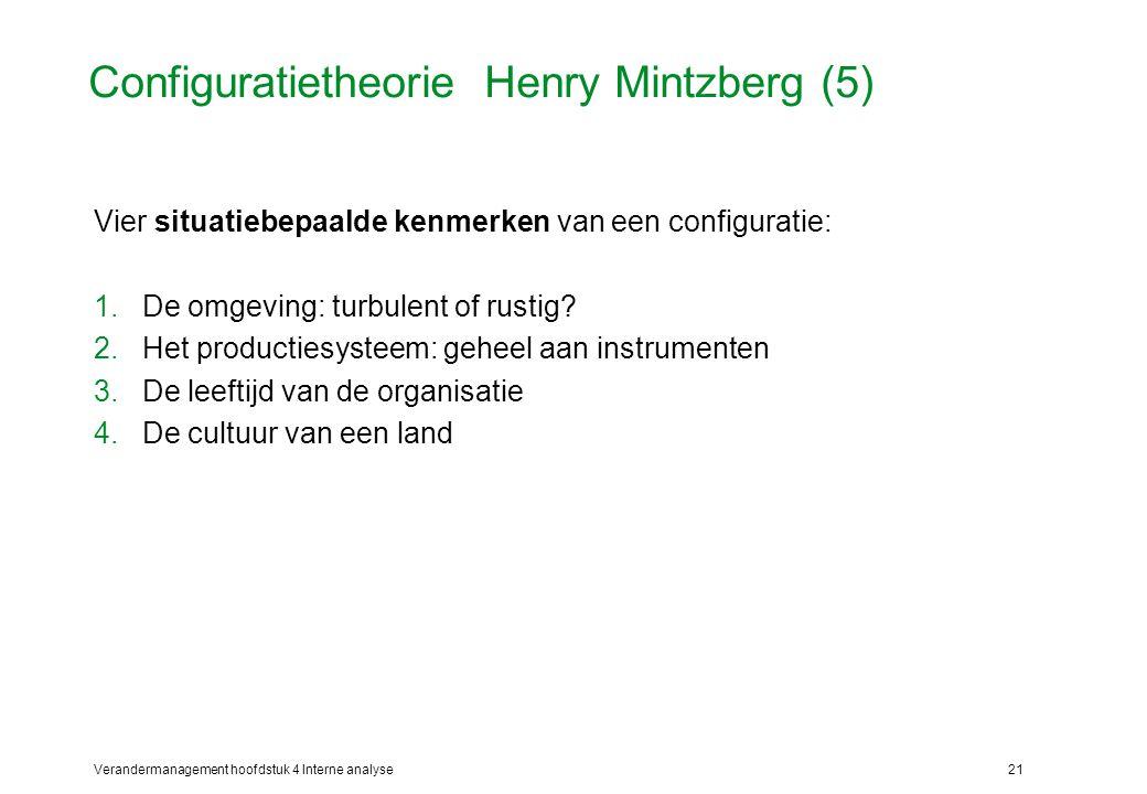 Configuratietheorie Henry Mintzberg (5)