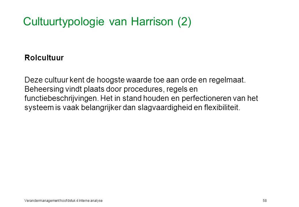 Cultuurtypologie van Harrison (2)