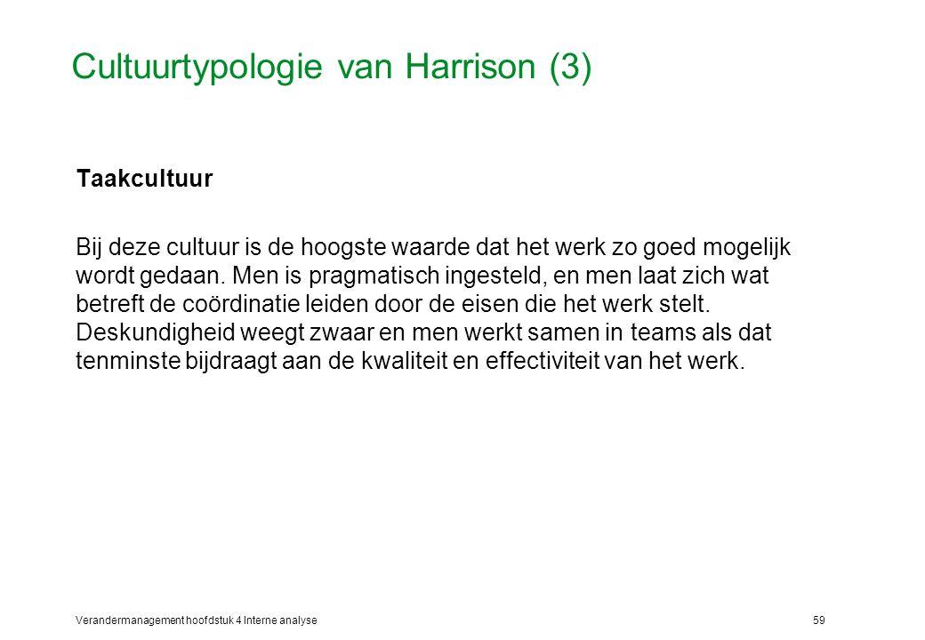 Cultuurtypologie van Harrison (3)
