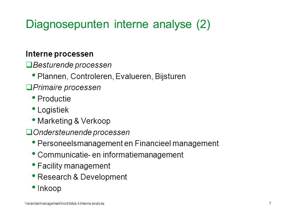 Diagnosepunten interne analyse (2)