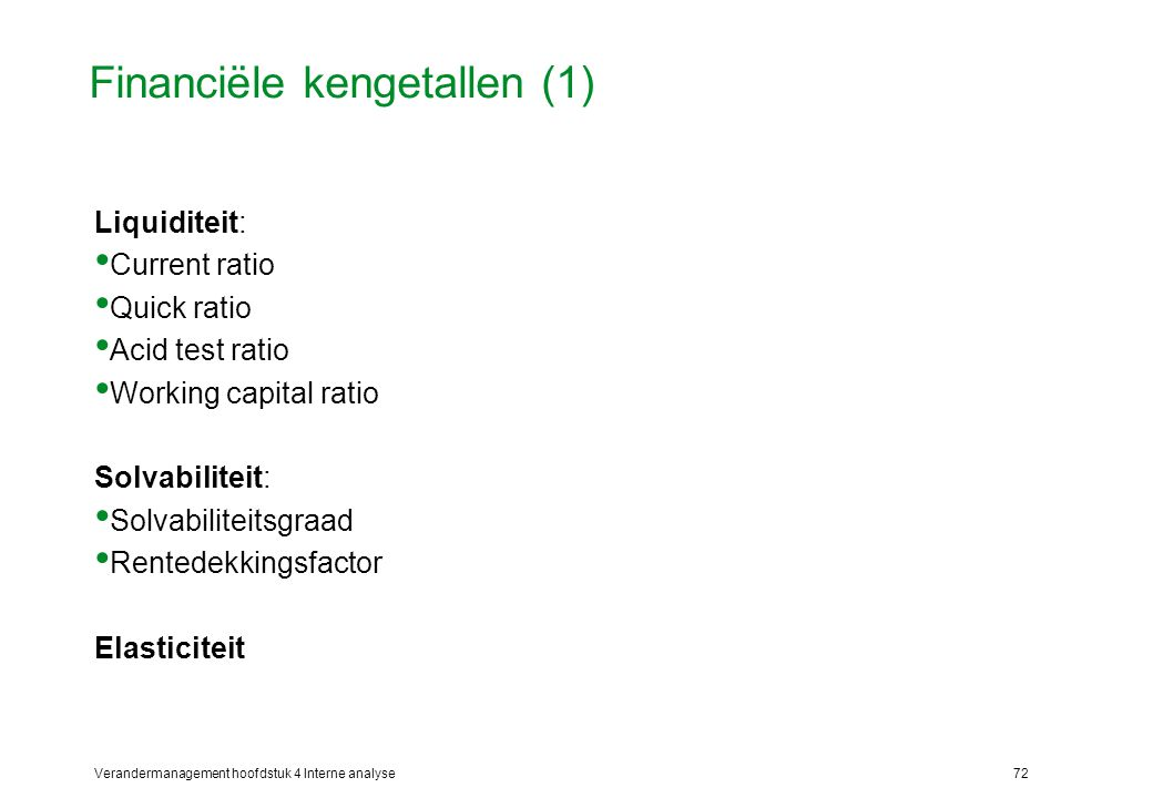 Financiële kengetallen (1)