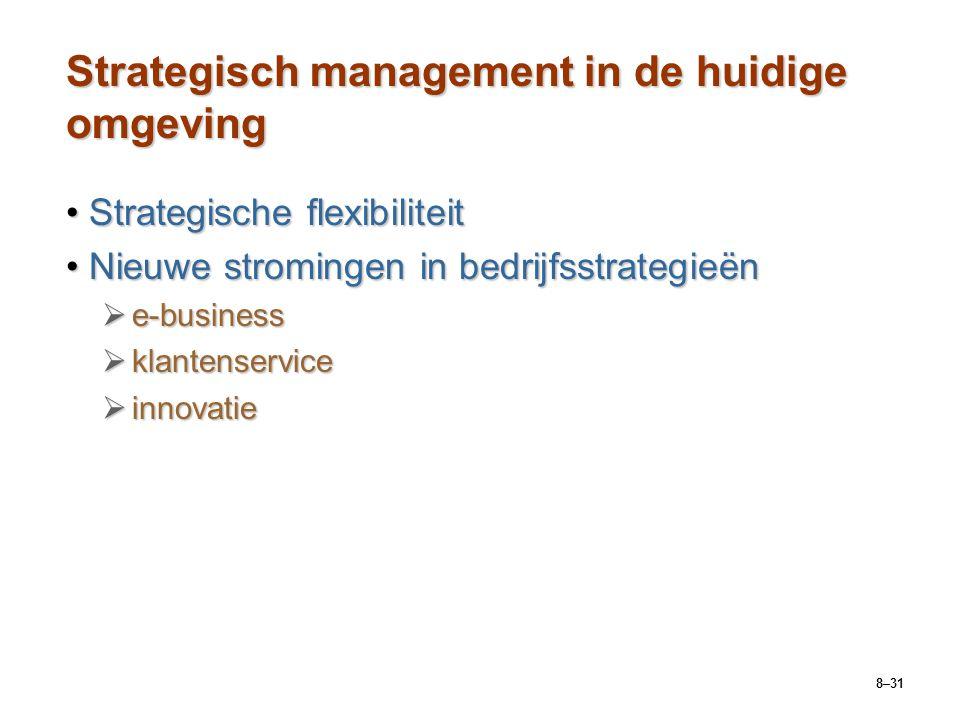 Strategisch management in de huidige omgeving