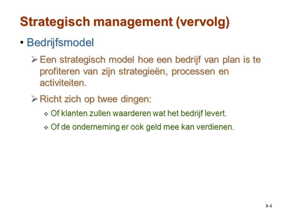 Strategisch management (vervolg)
