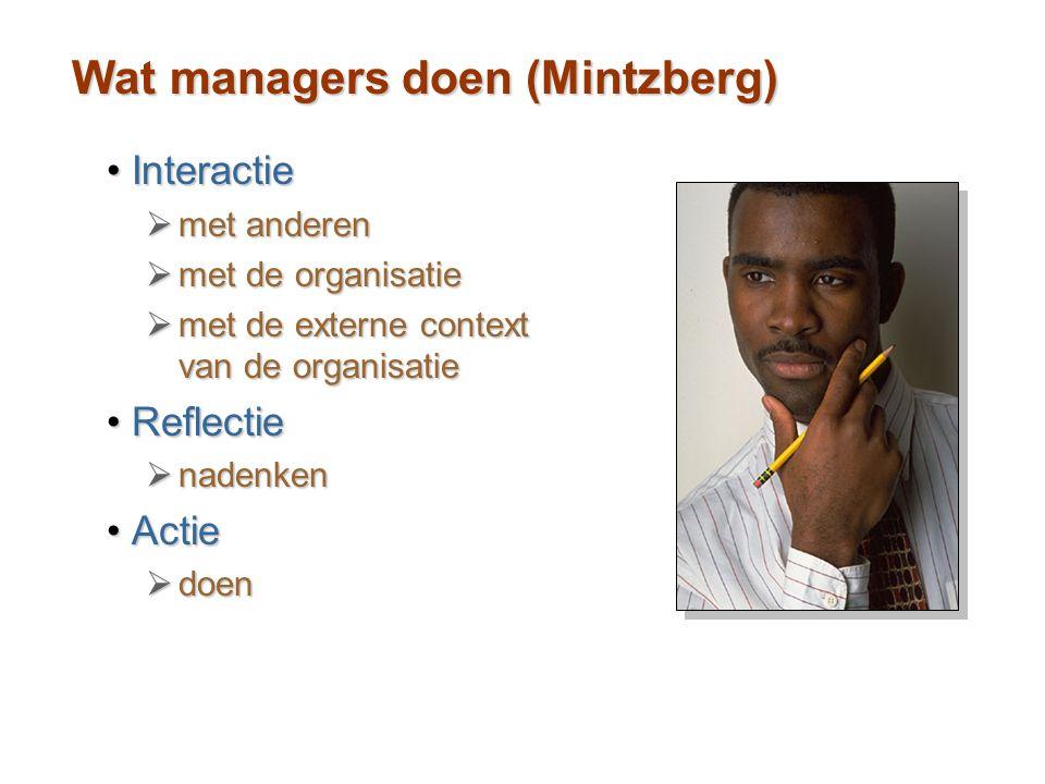 Wat managers doen (Mintzberg)