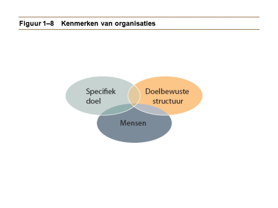 Figuur 1–8 Kenmerken van organisaties