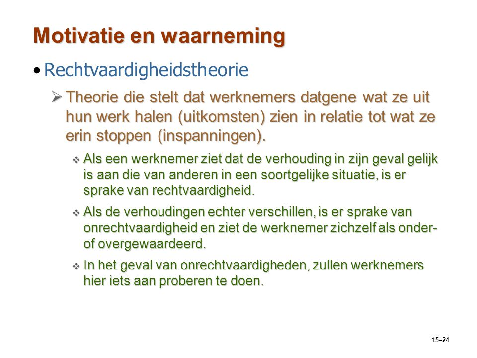 Motivatie en waarneming