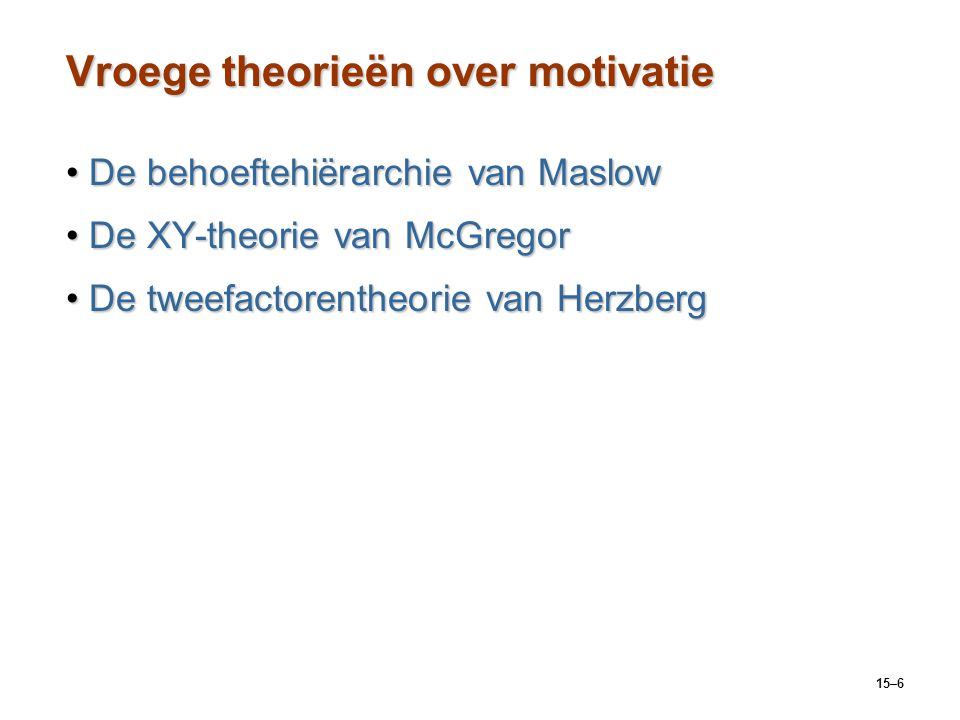 Vroege theorieën over motivatie