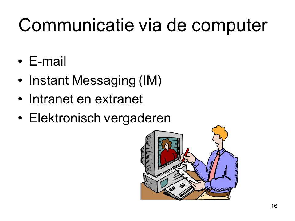 Communicatie via de computer