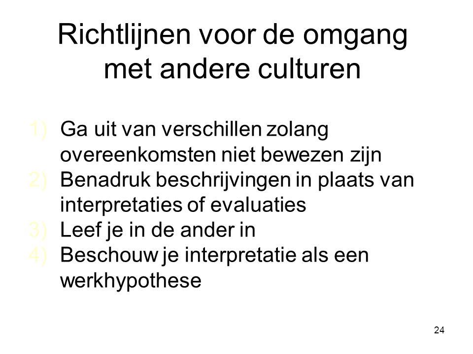 Richtlijnen voor de omgang met andere culturen