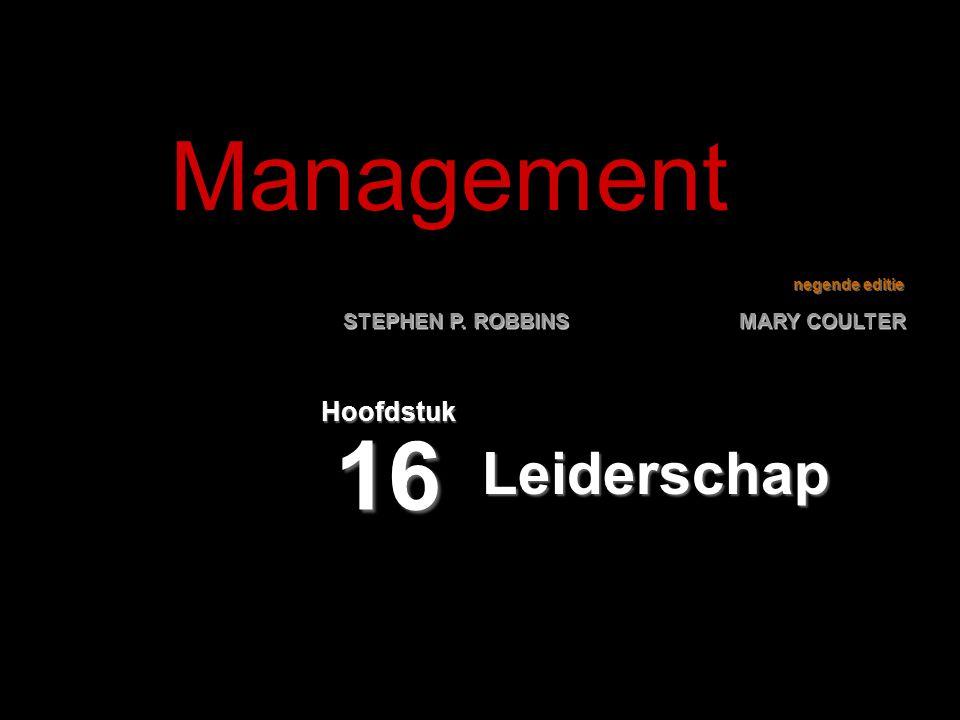 Management Hoofdstuk 16 Leiderschap
