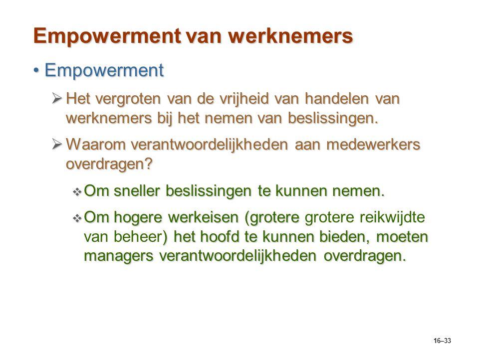 Empowerment van werknemers