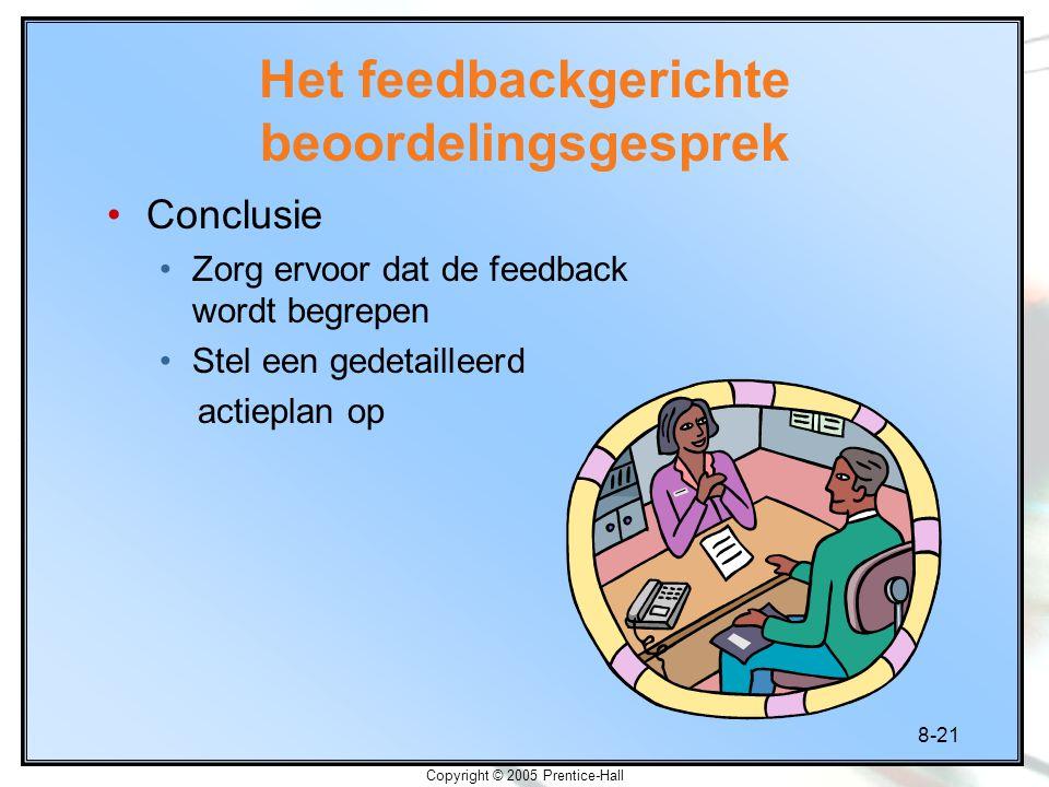 Het feedbackgerichte beoordelingsgesprek