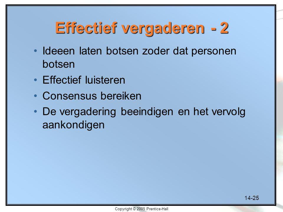 Effectief vergaderen - 2
