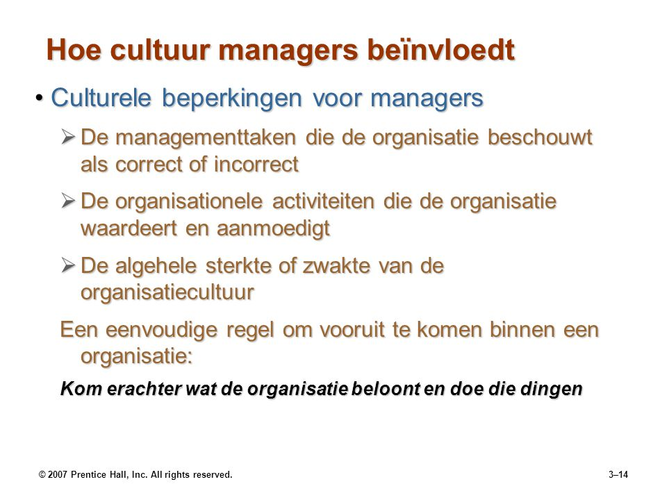 Hoe cultuur managers beïnvloedt