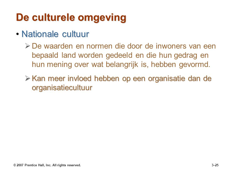 De culturele omgeving Nationale cultuur