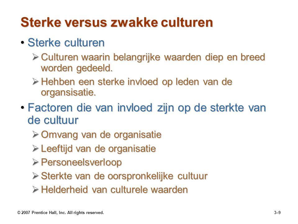 Sterke versus zwakke culturen