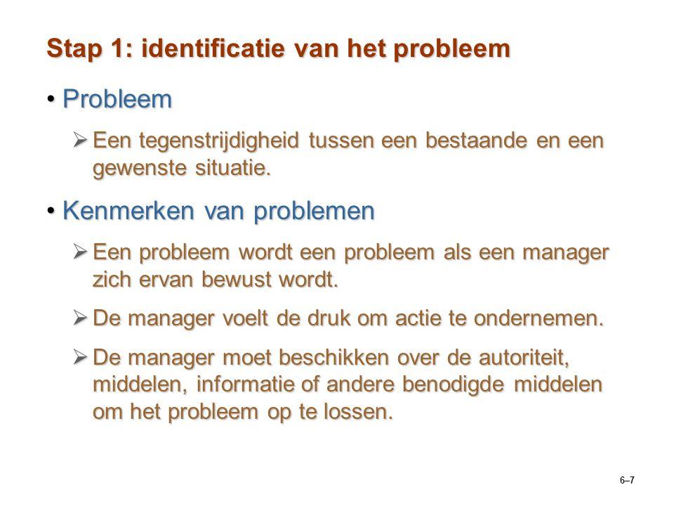 Stap 1: identificatie van het probleem
