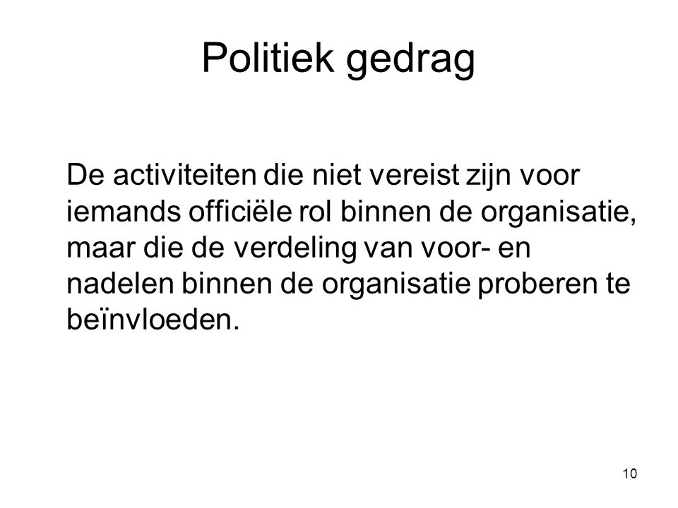 Politiek gedrag