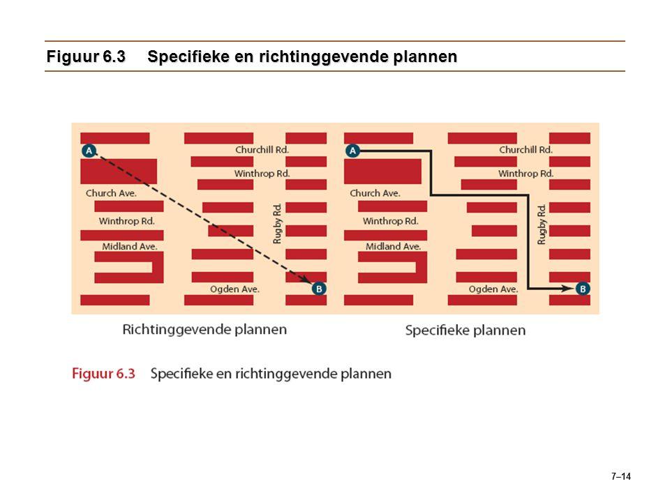 Figuur 6.3 Specifieke en richtinggevende plannen
