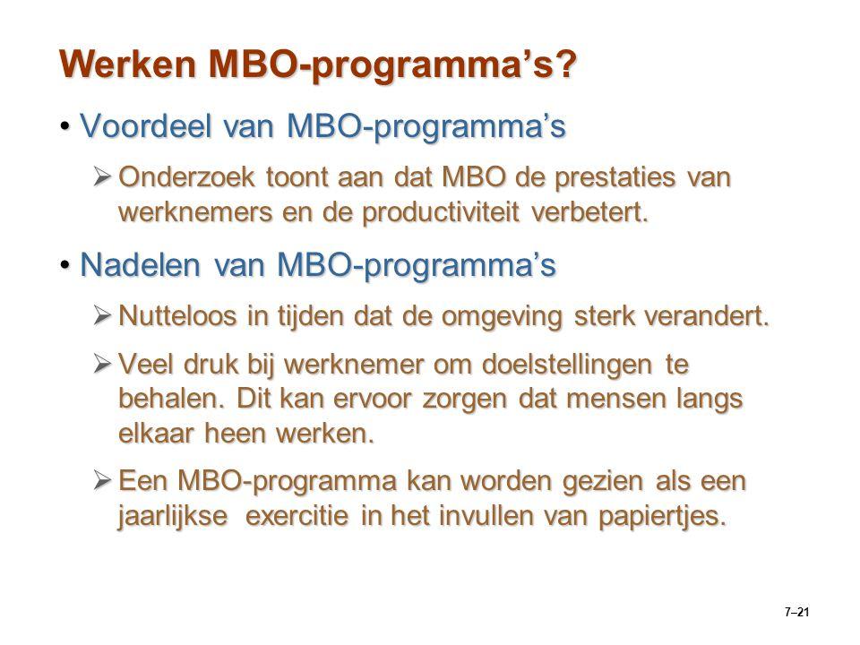 Werken MBO-programma's