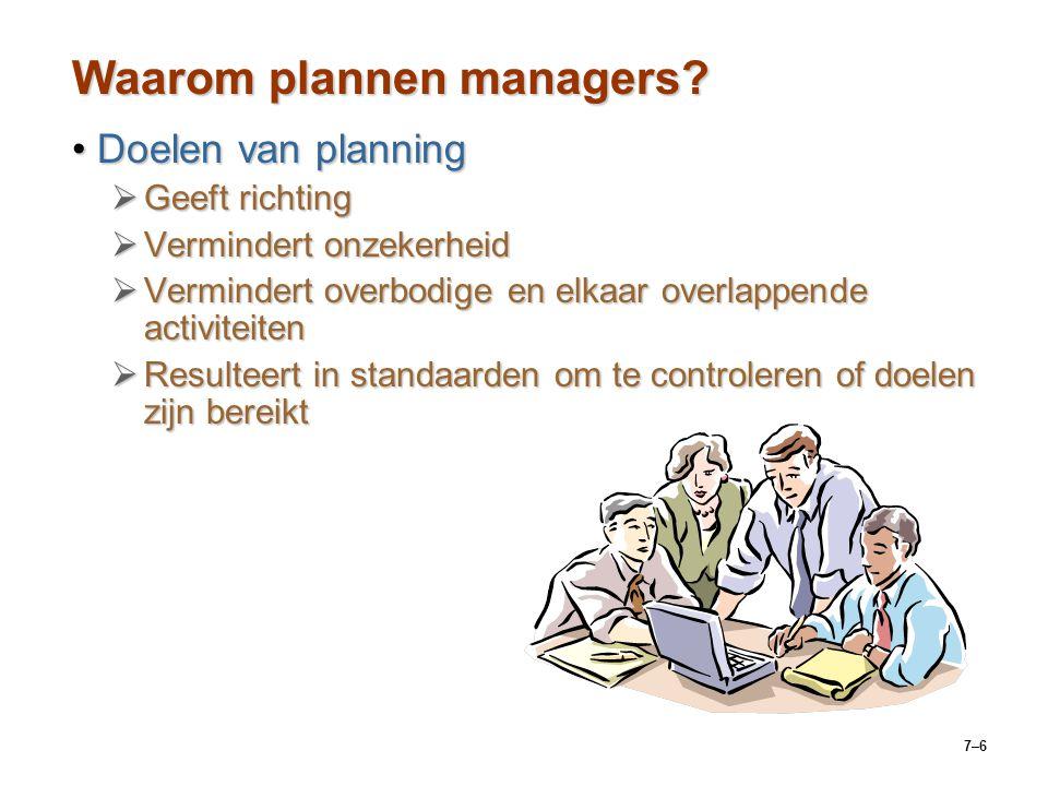 Waarom plannen managers