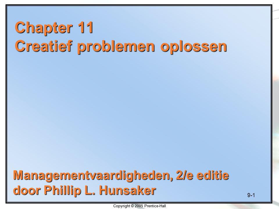 Chapter 11 Creatief problemen oplossen