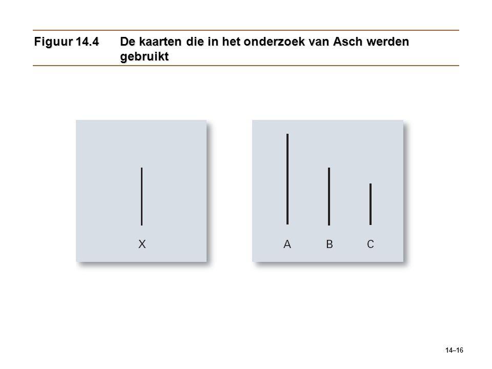 Figuur 14.4 De kaarten die in het onderzoek van Asch werden gebruikt