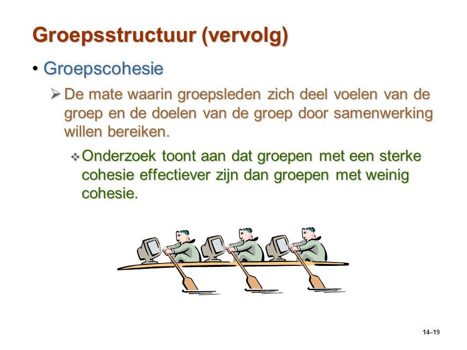 Groepsstructuur (vervolg)