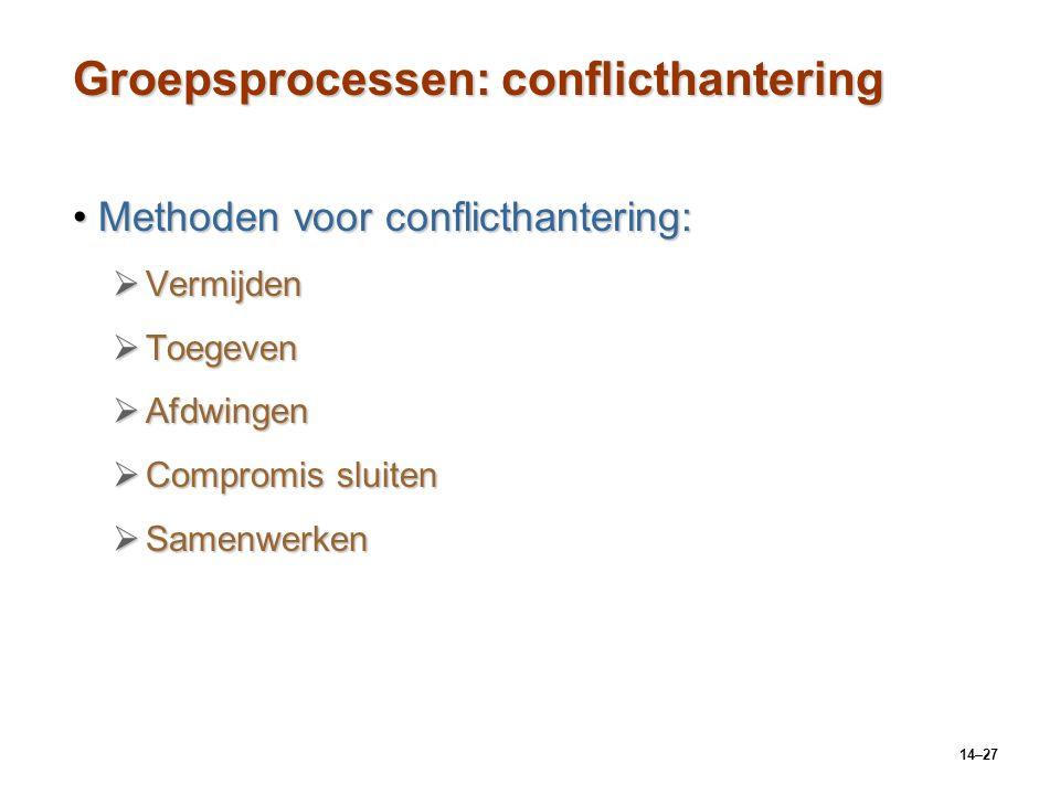 Groepsprocessen: conflicthantering