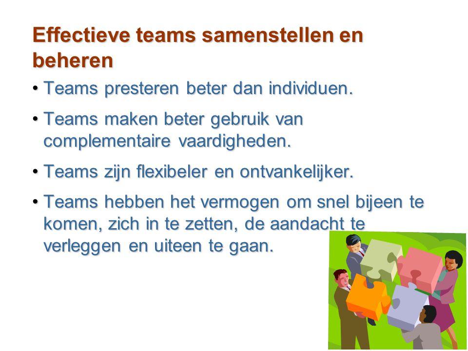 Effectieve teams samenstellen en beheren