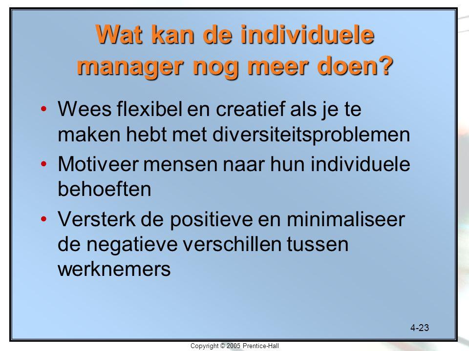 Wat kan de individuele manager nog meer doen