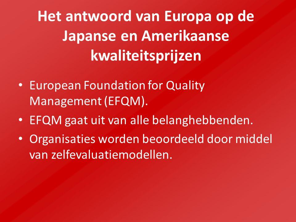 Het antwoord van Europa op de Japanse en Amerikaanse kwaliteitsprijzen