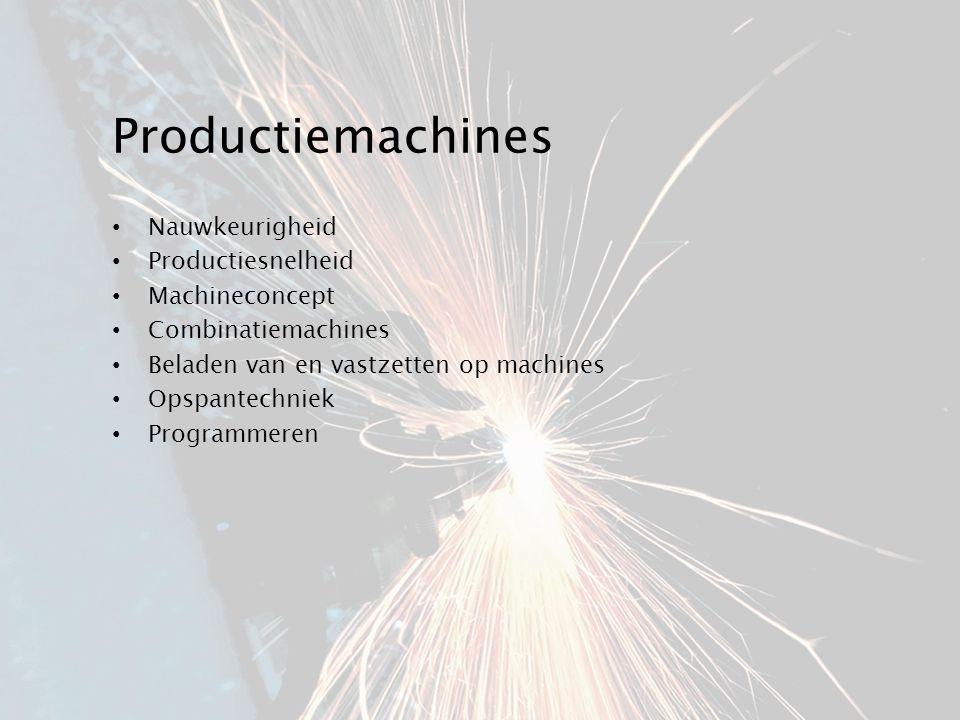Productiemachines Nauwkeurigheid Productiesnelheid Machineconcept