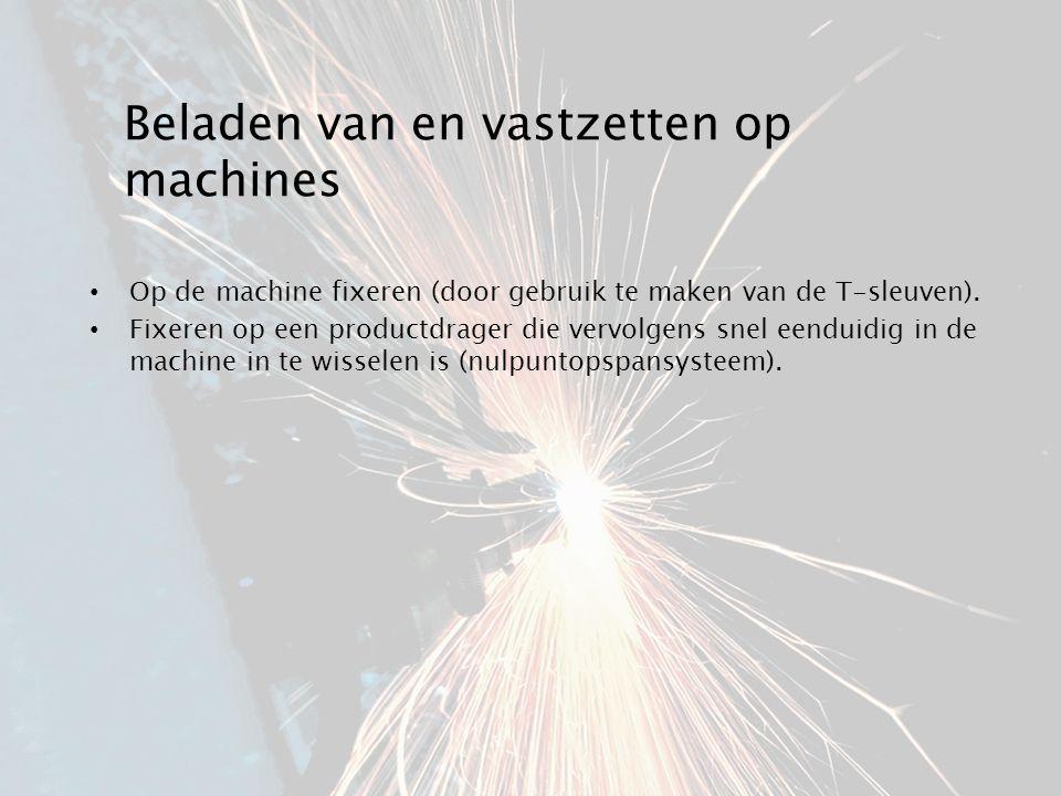 Beladen van en vastzetten op machines