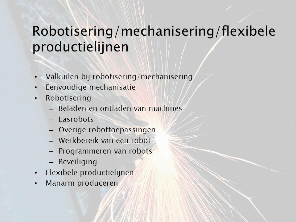 Robotisering/mechanisering/flexibele productielijnen