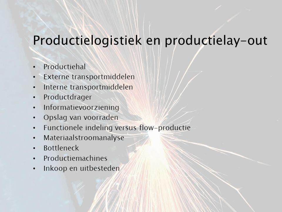 Productielogistiek en productielay-out