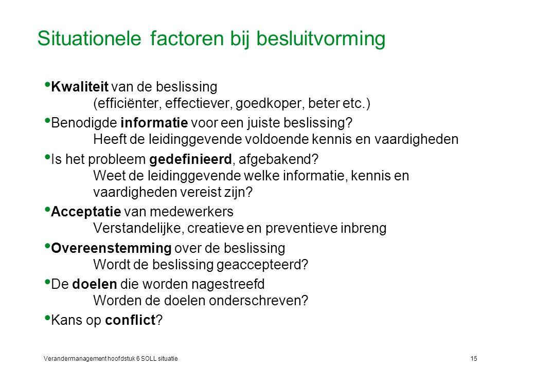 Situationele factoren bij besluitvorming