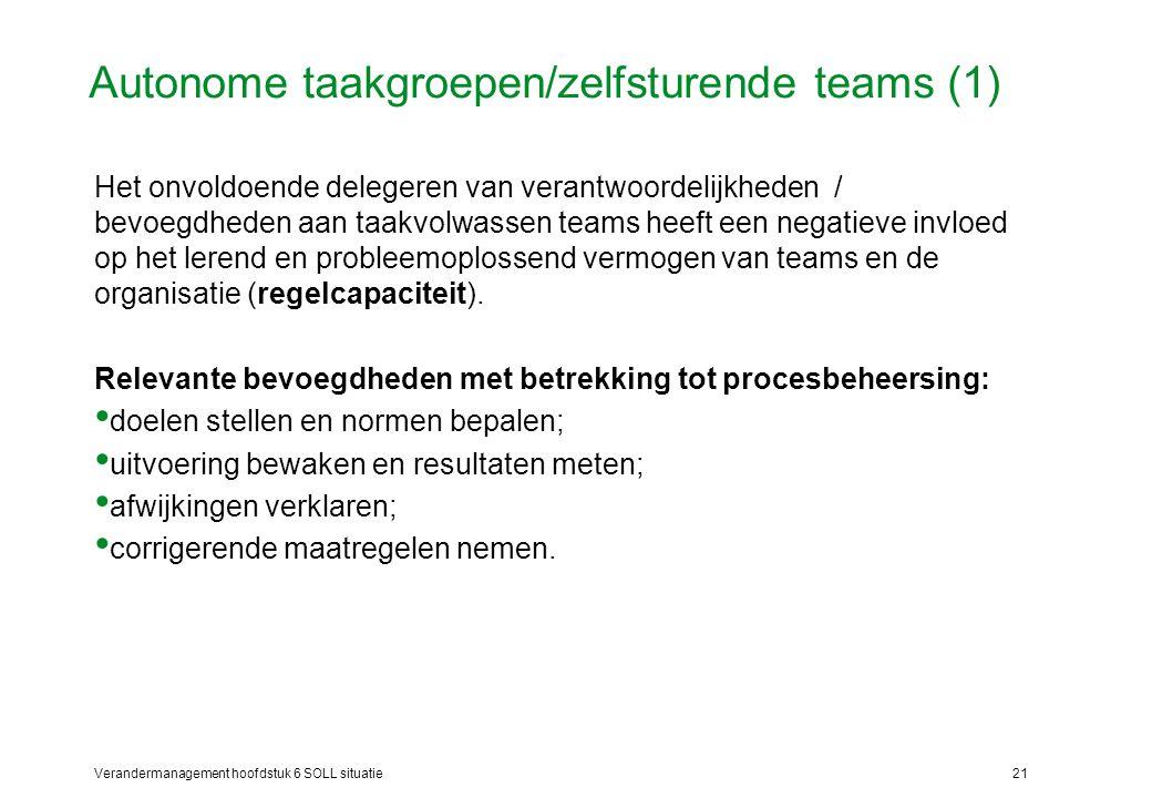 Autonome taakgroepen/zelfsturende teams (1)