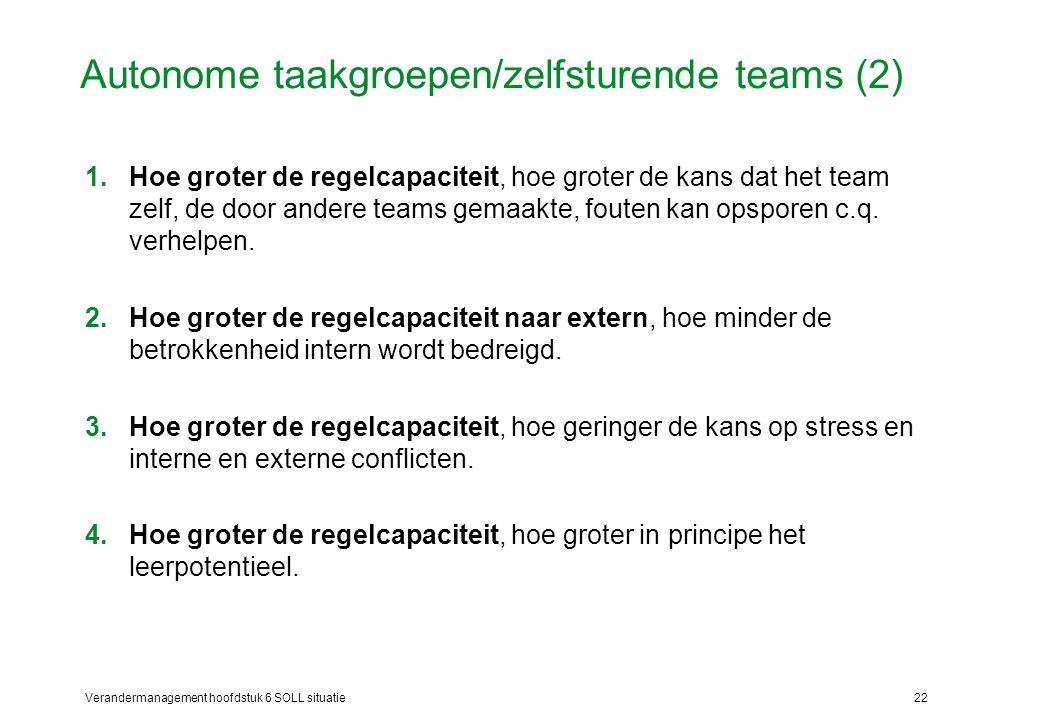 Autonome taakgroepen/zelfsturende teams (2)